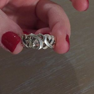 Tiffany & Co. Jewelry - Silver ring with 3 hearts